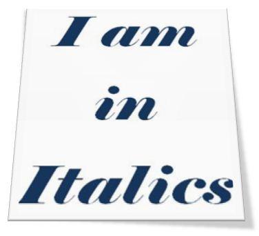 Italics in HTML